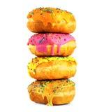 vita blandade donuts Royaltyfria Foton