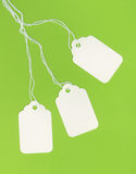 vita blanka gröna etiketter för bakgrund Royaltyfria Foton