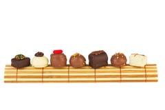 vita bruna choklader för bambu Royaltyfria Foton
