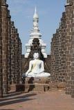 Vita buddha Arkivbilder