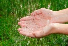 Vita che dà pioggia Fotografie Stock
