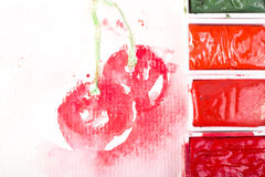 vita Cherry Arkivfoto
