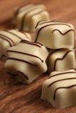 vita choklader Royaltyfri Foto