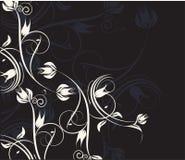 vita dekorativa blommor vektor illustrationer
