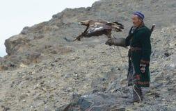 Vita del cacciatore mongolo 17 dell'aquila Fotografia Stock