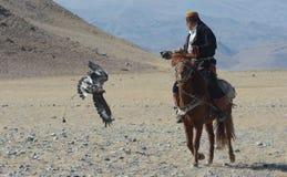 Vita del cacciatore mongolo 18 dell'aquila Fotografia Stock Libera da Diritti