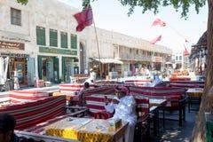 Vita del caffè in Doha Fotografie Stock
