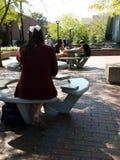 Vita del campus universitario Fotografia Stock Libera da Diritti