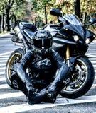 Vita del motociclista, vita di libertà fotografia stock libera da diritti