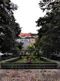 Vita del parco nella città di Praga immagini stock libere da diritti