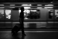 Vita del pendolare a Jakarta fotografia stock libera da diritti