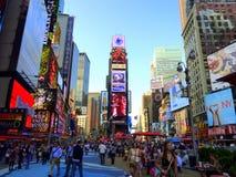 Vita del Times Square Fotografia Stock
