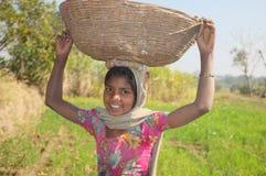 Vita del villaggio, Ragiastan rurale, India Fotografie Stock