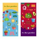 Vita dell'azienda agricola nell'insegna del giardino Illustrazione Immagine Stock Libera da Diritti