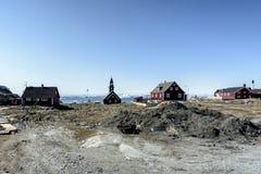 Vita dell'oceano di Arcic nella città di Ilulissat della Groenlandia Maggio 2016 Fotografia Stock