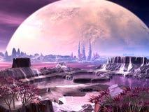 Vita della pianta straniera sul pianeta lontano illustrazione di stock
