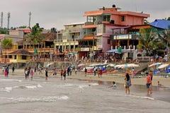 Vita della spiaggia a Trivandrum Fotografie Stock Libere da Diritti