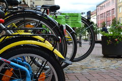 Vita di città Biciclette Immagine Stock