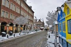 Vita di città di inverno immagini stock
