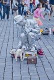 Vita di città a Praga, repubblica Ceca Fotografie Stock Libere da Diritti