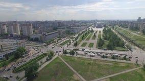 Vita di città in Russia e sue vie centrali video d archivio