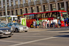 Vita di città a Vienna, Austria Fotografie Stock Libere da Diritti