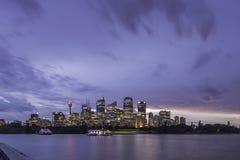 Vita di notte della città di Sydney Immagine Stock Libera da Diritti