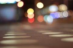 Vita di notte della via Immagini Stock