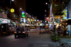 Vita di notte di Chiang Mai Immagini Stock Libere da Diritti