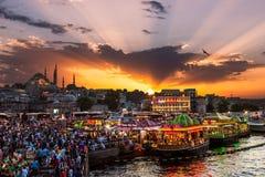 Vita di notte di Costantinopoli Fotografie Stock Libere da Diritti