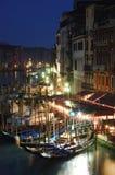 Vita di notte di Venezia, Italia Fotografia Stock