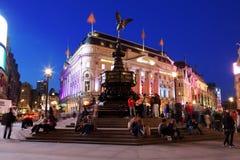 Vita di notte famosa del circo di Piccadilly della strada trasversale Fotografie Stock