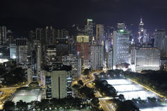 Vita di notte in Hong Kong Immagine Stock