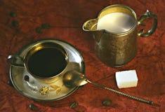 Vita di Stil con la tazza del cofee Fotografia Stock
