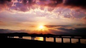 Vita di tramonto Fotografia Stock
