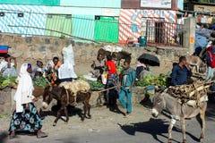 Vita di via di Ehiopian Fotografie Stock Libere da Diritti