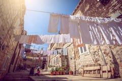 Vita di via di Ragusa, Croazia Fotografia Stock