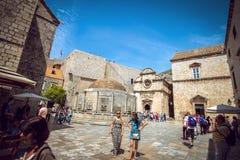 Vita di via di Ragusa, Croazia Fotografie Stock Libere da Diritti