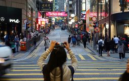 Vita di via di Hong Kong fotografie stock libere da diritti