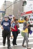 Vita di via New York Fotografie Stock Libere da Diritti