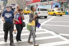 Vita di via New York Fotografia Stock Libera da Diritti