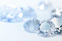 Vita diamanter Royaltyfri Bild