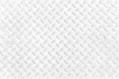 Vita Diamond Plate Texture Background royaltyfria bilder