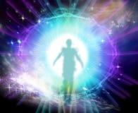 Vita dopo la morte e l'universo illustrazione vettoriale
