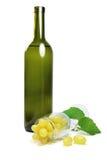 Vita druvor i exponeringsglas arkivbild