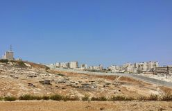 Vita dura dei beduini palestinesi Fotografia Stock