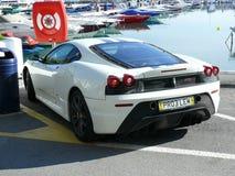 Vita Ferrari F430 Scuderia Arkivbilder