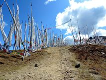 Vita flaggor som per bhutanesiska egenar Royaltyfria Foton