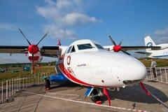 vita flygplanpropellrar Arkivfoto