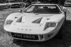 Vita Ford GT 40 1969 royaltyfri bild